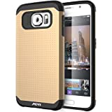 Galaxy S6 Case, AOYI HEAVY DUTY [Dual Layer (PC+TPU) Protective]Case for Samsung Galaxy S6- (Gold)