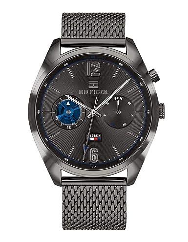 Tommy Hilfiger Reloj Multiesfera para Hombre de Cuarzo con Correa en Acero Inoxidable 1791546: Amazon.es: Relojes