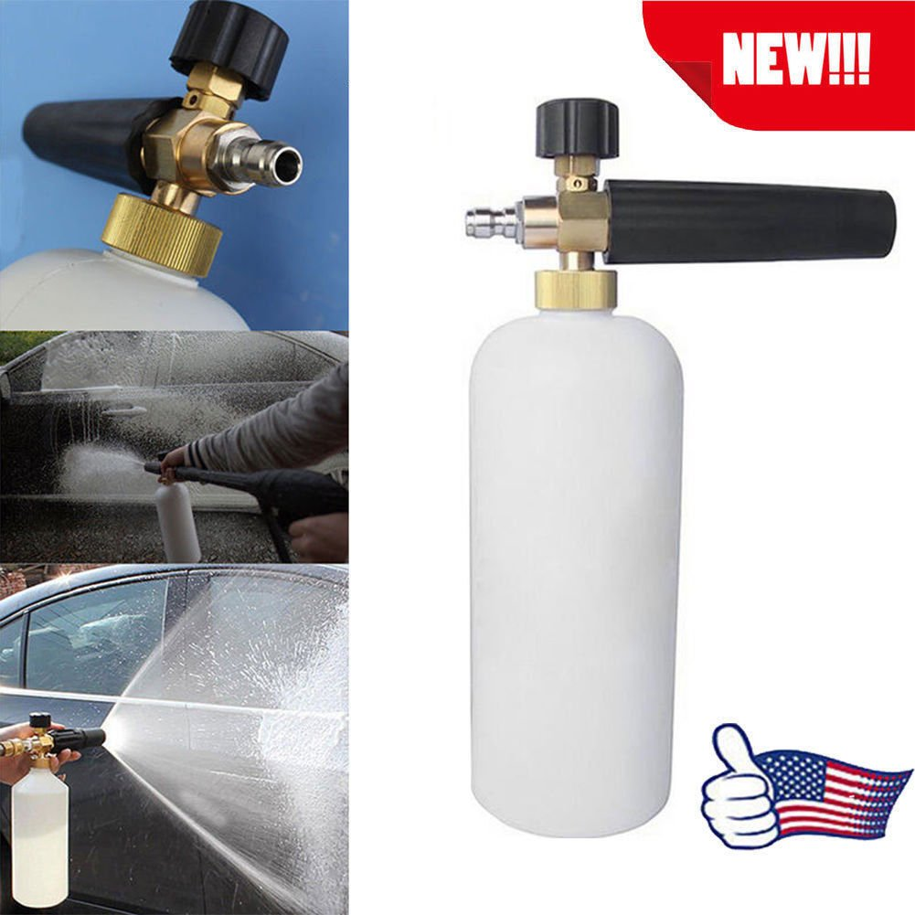 Foam Lance Snow Cannon Pressure Washer Gun Car Foamer Wash Quick Adapter Jet TO