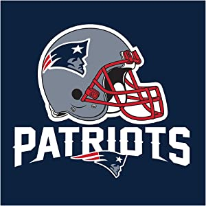 Creative Converting Officially Licensed NFL Paper Lunch Napkins, 192-Count, New England Patriots