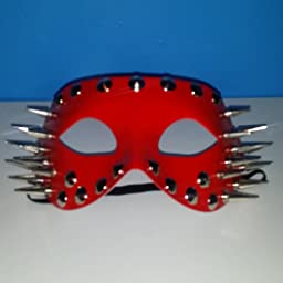 Amazon Com Steampunk Mask Coxeer Halloween Spikes Venetian Masquerade Mask Eye Mask For Men And Women Red Clothing