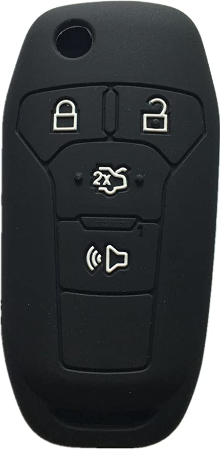Rpkey Silicone Keyless Entry Remote Control Key Fob Cover Case protector For 2013 2014 2015 2016 Ford Fusion N5F-A08TAA 164-R7986 3248-A08TAA ASD