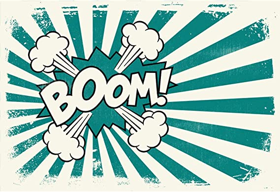 Yongfoto 2 2x1 5m Fotografie Hintergrund Karikatur Comic Superheld Boom Platzen Dampf Retro Alte Schule Streifenmuster