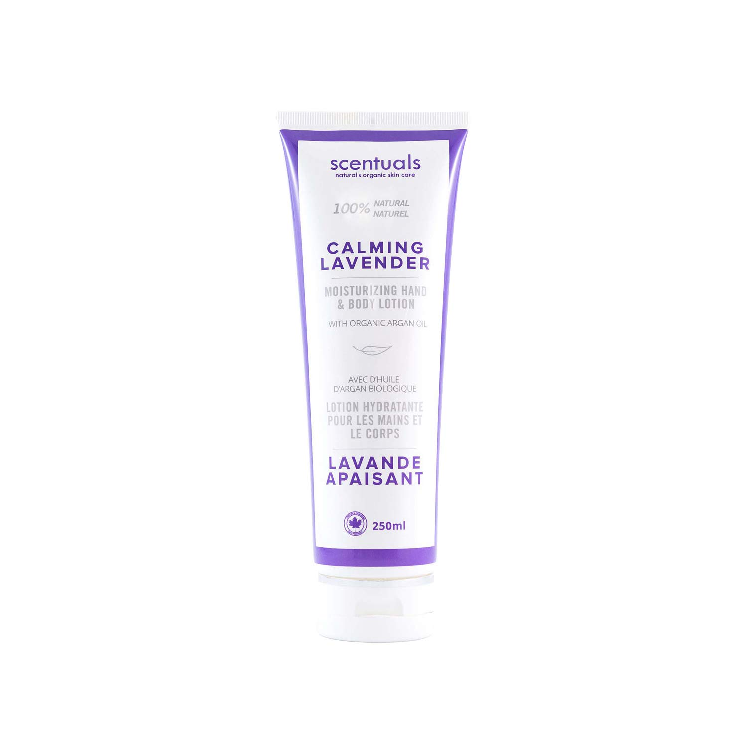Scentuals 100% Natural Calming Lavender Hand & Body Lotion, White, 8.45 Fluid Ounce