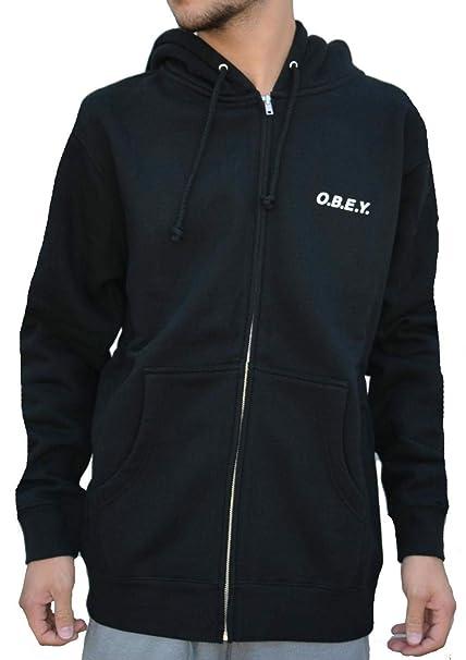 Obey O.B.E.Y. Zip Chaqueta hombre negro (L): Amazon.es: Ropa ...