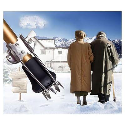 G&M Bâtonnet de glace de canne Bâton de marche Béquille Attache de glace Poignées Boue Insécurité de la neige Aide de sécurité Convient à tous les cannes