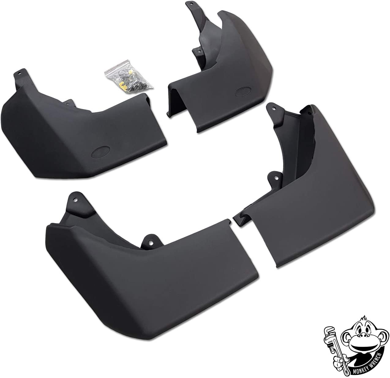 LAND ROVER DISCOVERY 3 /& 4 FRONT MUDFLAP SET CAS500010PCL