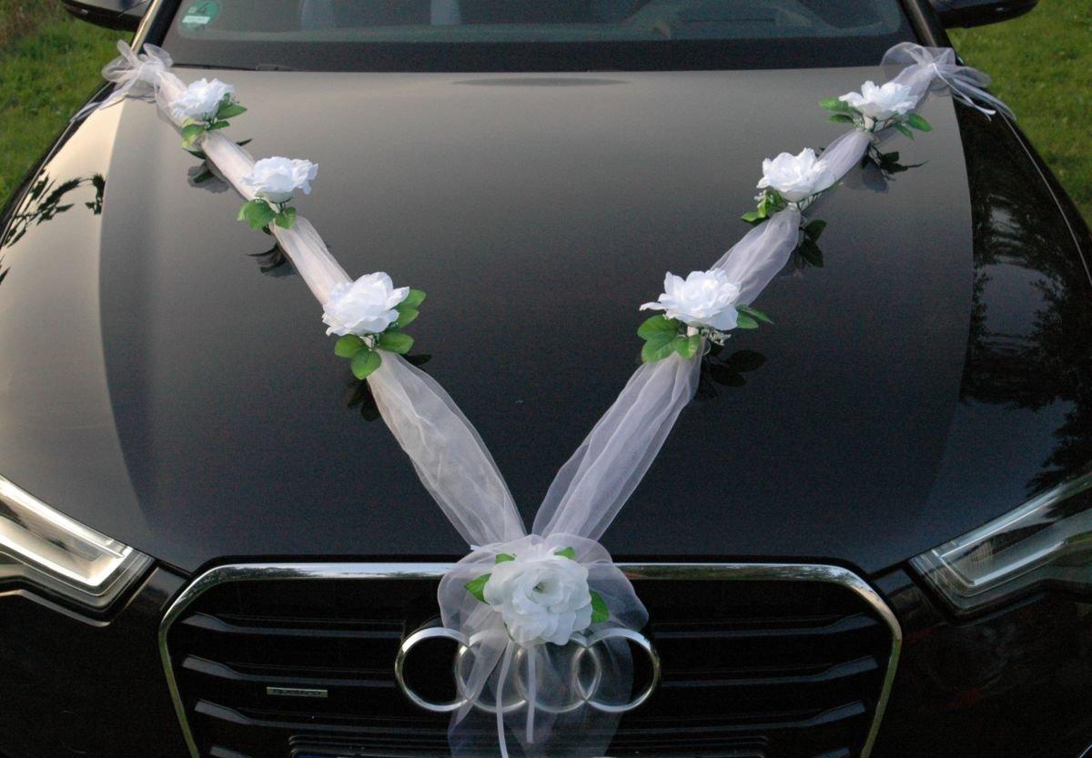 Decorazioni Matrimonio Arancione : Ghirlanda m auto sposi rose decorazione auto gioielli matrimonio