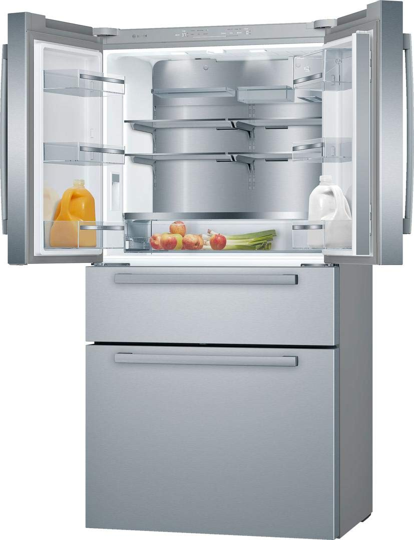 LED Lighting and MultiAirFlow in Stainless Steel ft VitaFreshPro Capacity FarmFresh System Bosch B36CL80ENS 36 800 Series French Door Refrigerator with 20.5 cu