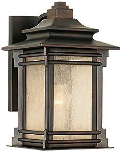 """Hickory Point 12"""" High Walnut Bronze Outdoor Wall Light"""