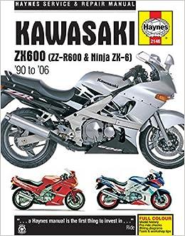 Kawasaki ZX600 Zz-R600 & Ninja ZX6 90-06 Haynes Service ... on