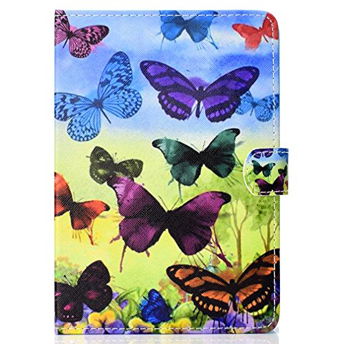 Butterfly Ultra Stand Closure Card Pad 24 Case Case Pattern Slot Foldable for of Magnetic Leather Tablet Inch for Case 10 Thin Bookstyle Inch LMFULM® 10 General Color PU Purpose Colorful wzaxcq7B