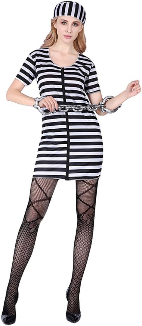 Pinji Disfraz de Halloween, Disfraz de preso, para Hombres ...