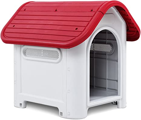 Magshion Up to 20 lb Plastic Outdoor Dog House