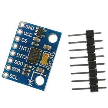 BeMatik - Sensor de 3 Ejes: Aceleración, Gravedad y Movimiento ADXL345 GY-291