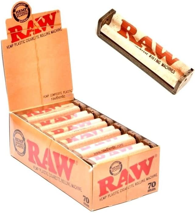 RAW 2 way Adjustable 70mm Rolling Machine+Single Wide ORGANIC and CLASSIC Papers