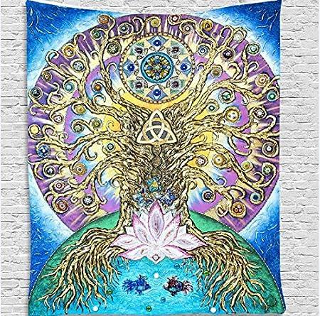 N / A Arte Abstracto Tapiz Colgante de Pared Creativo decoración del hogar Viaje Camping Manta Estera de Yoga Dormir Gran Bosque mágico Imprimir decoración de la Pared B15 150x200cm