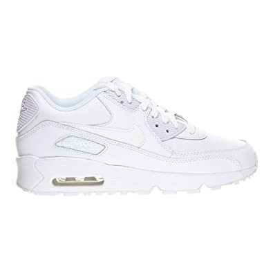 Nike Air Max 90 LTR (GS) Big Kid's Shoes White 833412-100 (