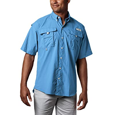 Columbia Men's PFG Bahama II Short Sleeve Shirt, White Cap, X-Large: Clothing