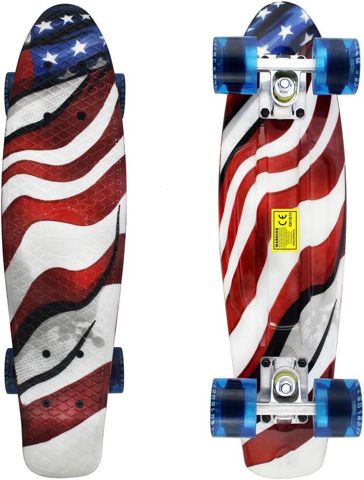 Meketec Skateboards Complete 22 Inch Mini Cruiser - 1