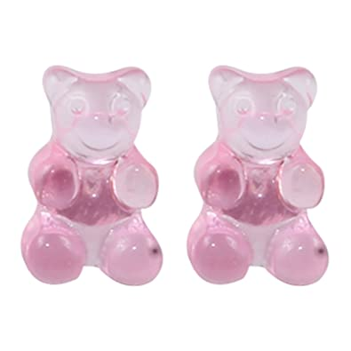 2e82ed64e The Funky Barcode PENNY SWEETS MINI GUMMY BEAR JELLY PINK STUD EARRINGS  Complete With Gift Box: Amazon.co.uk: Jewellery