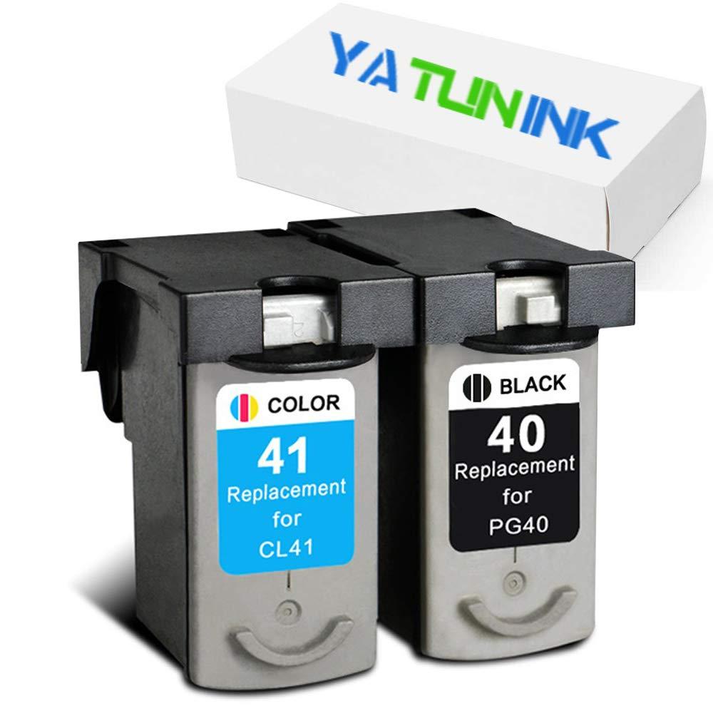 yatunink 2 Pack para Canon PG-40 X L amarillo x l (1 negro + 1 ...