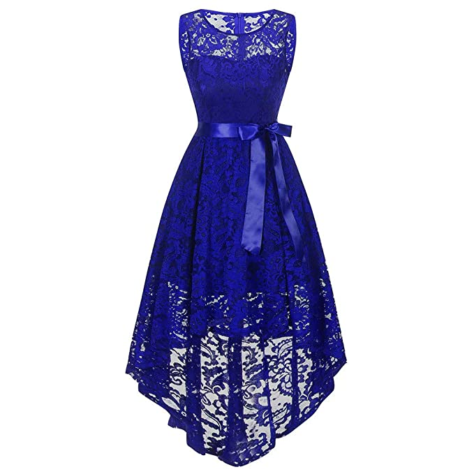 UOFOCO Wedding Bridesmaid Dress for Womens Sleeveless Lace Long Dress Formal Ladies