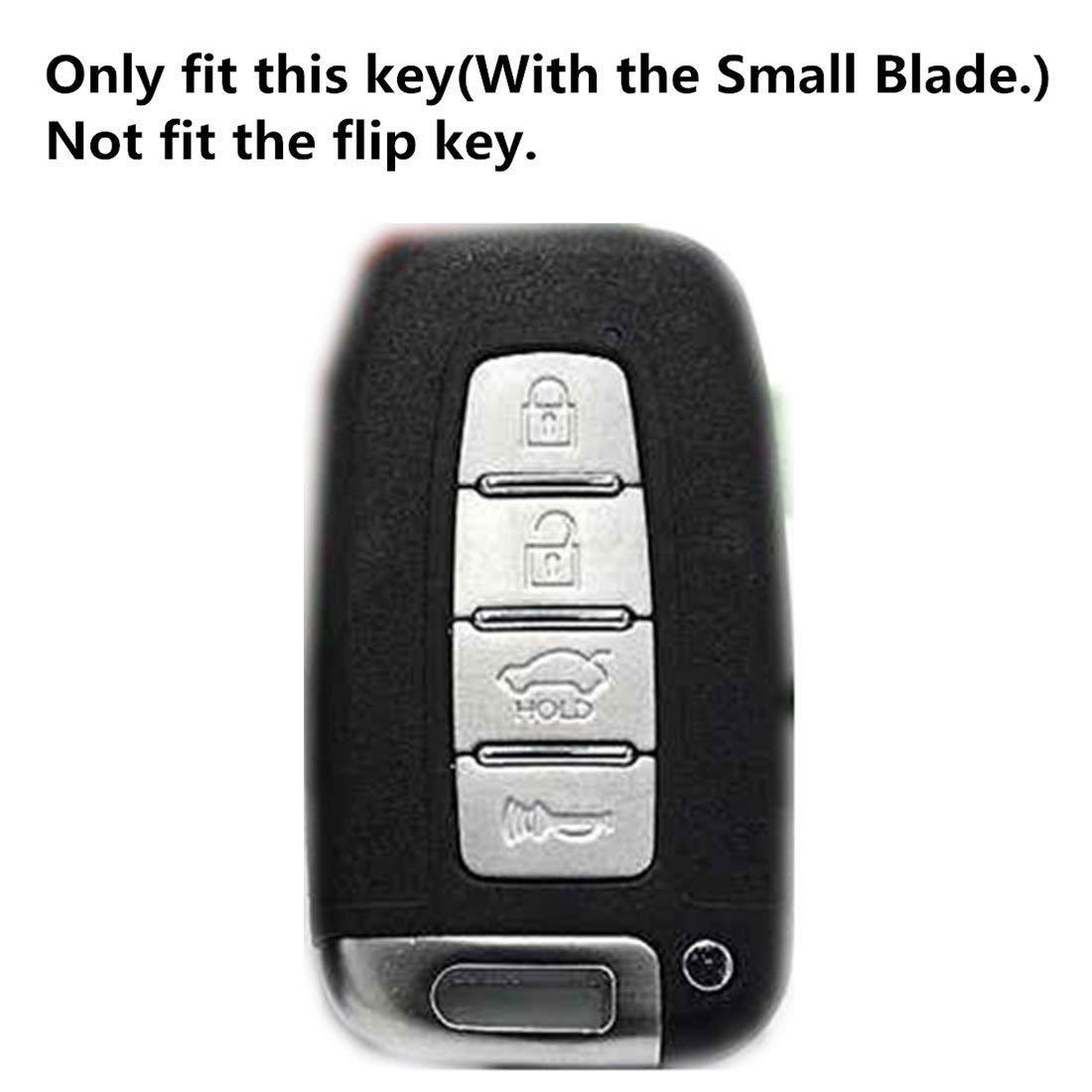Sky Blue E-Senior 4 Buttons Silicone Car Key Case//Cover Remote Fob Key Case Cover Remote Holder Protector for Hyundai Equus Genesis Coupe Sonata Veloster