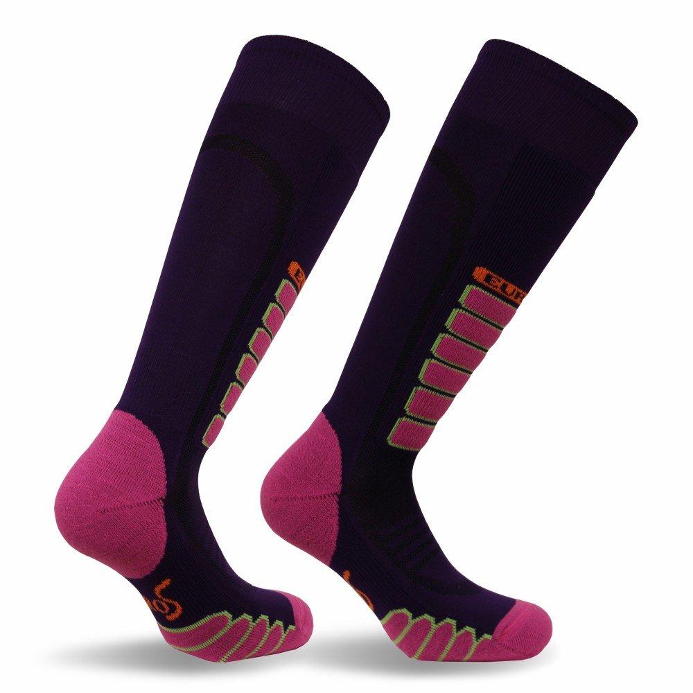 Padded Shin Protection Comfort-3211 Eurosocks Snow Ski Socks Ultra Smooth No Bunching No Pinch Seamless Toe