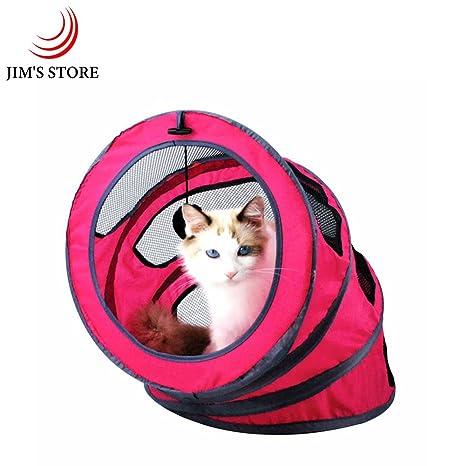 Jim de la tienda plegable espiral Cat Litter portátil gatos túnel tienda de campaña casa cama