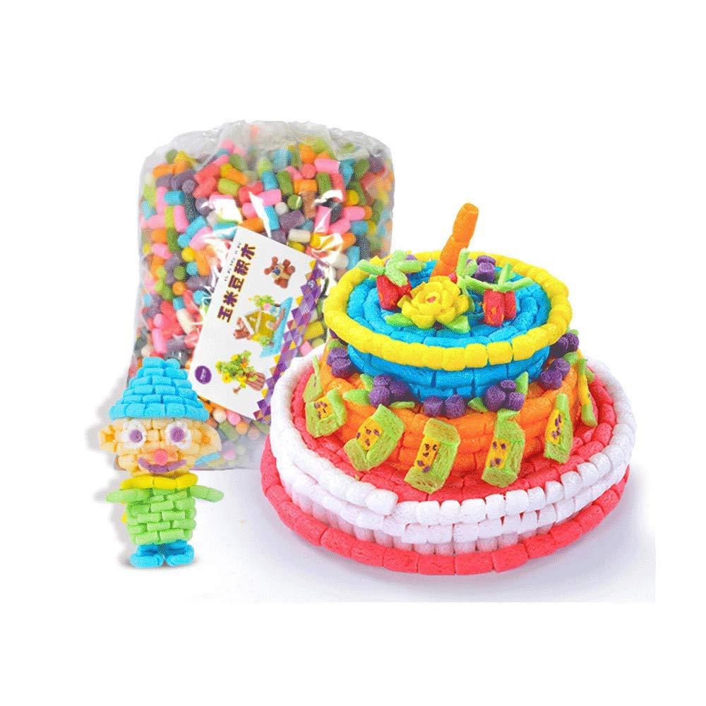 Little Toys Juguetes para niños Manual de Desarrollo Intelectual Paquete de Materiales DIY Grano de maíz Creativo Kindergarten Puzzle Creativo Bloques de construcción Juguetes (Tamaño : D)