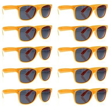 3578093a8e0 grinderPUNCH Sunglasses 10 Bulk Pack Lot Neon Color Party Glasses Wholesale