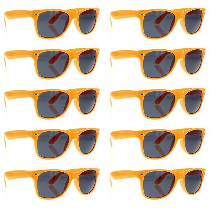 Amazon.com: grinderpunch Wayfarer anteojos de sol 10 Bulk ...
