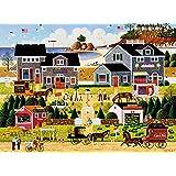 Buffalo Games Wescott's Cherry Harbor by Charles Wysocki Jigsaw Puzzles (1000 Piece), Black