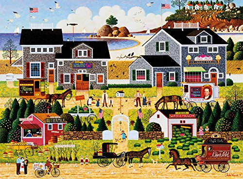 Buffalo Games Charles Wysocki - Westcott's Black Cherry Harbor - 1000 Piece Jigsaw Puzzle by Buffalo Games
