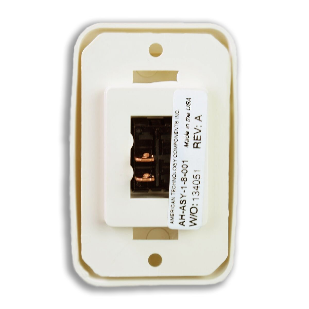 Camper Almond 12-Volt American Technology Components Single SPST On-Off Switch with Bezel Trailer for RV