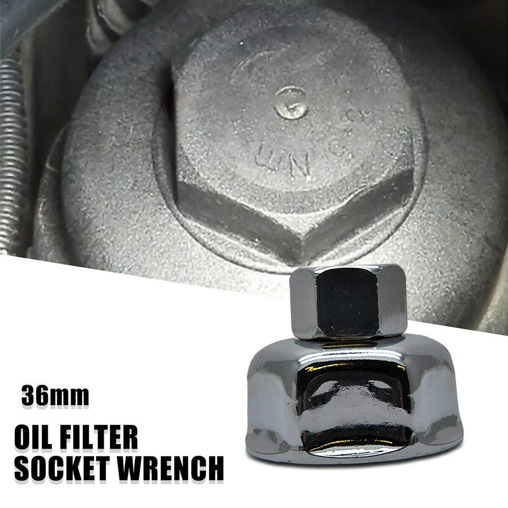 herramienta para quitar 8 enz B-M-VV M52 M60 M73 V-VV 36 mm, 6 unidades, cromada, brillante, 1//2 unidad Llave de vaso para filtro de aceite Sunwan