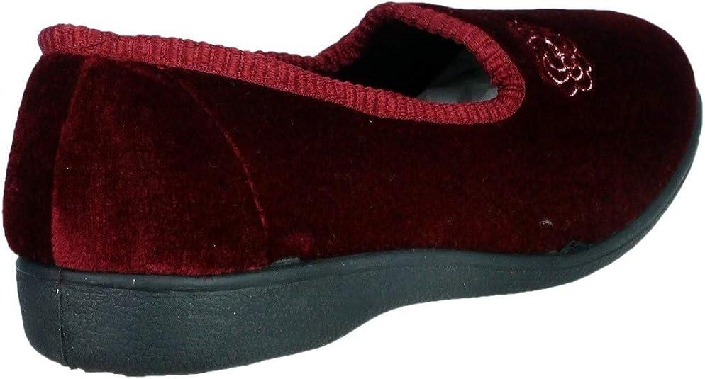 Mirak Ladies slip on full slippers Style Simone Colour Burg Size UK 7 New no box