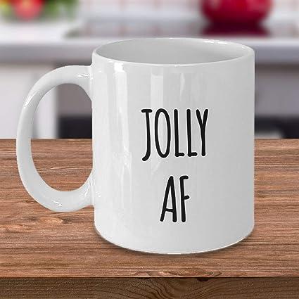 jolly af mug sarcastic coffee mug 11 oz funny christmas coffee mug 11 oz funny christmas