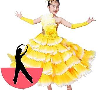 SMACO Decoración Floral Disfraces de Bailarina española para niños Disfraz de Baile Flamenco Sexy Disfraz de niña para Baile de Flamenco: Amazon.es: Deportes y aire libre