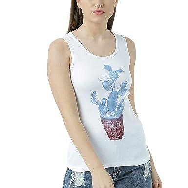 c9675aba85afa Huetrap Womens Rainbow Cactus Tank Top  Amazon.in  Clothing   Accessories