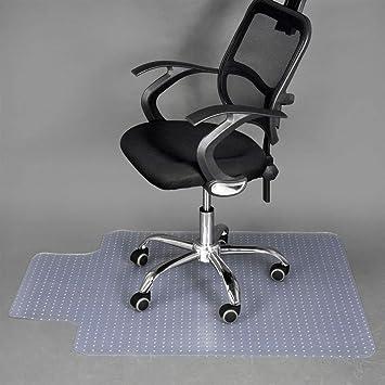 Somolux - Alfombrilla para silla de oficina para suelo de alfombra (plástico, PVC, para ordenador, tamaño grande, ...