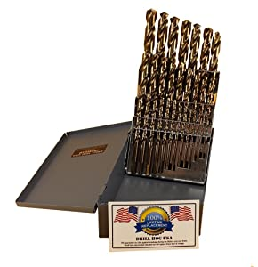 1. 29 Pc Cobalt Drill Bit Set M42 HSS 29pc USA Drills