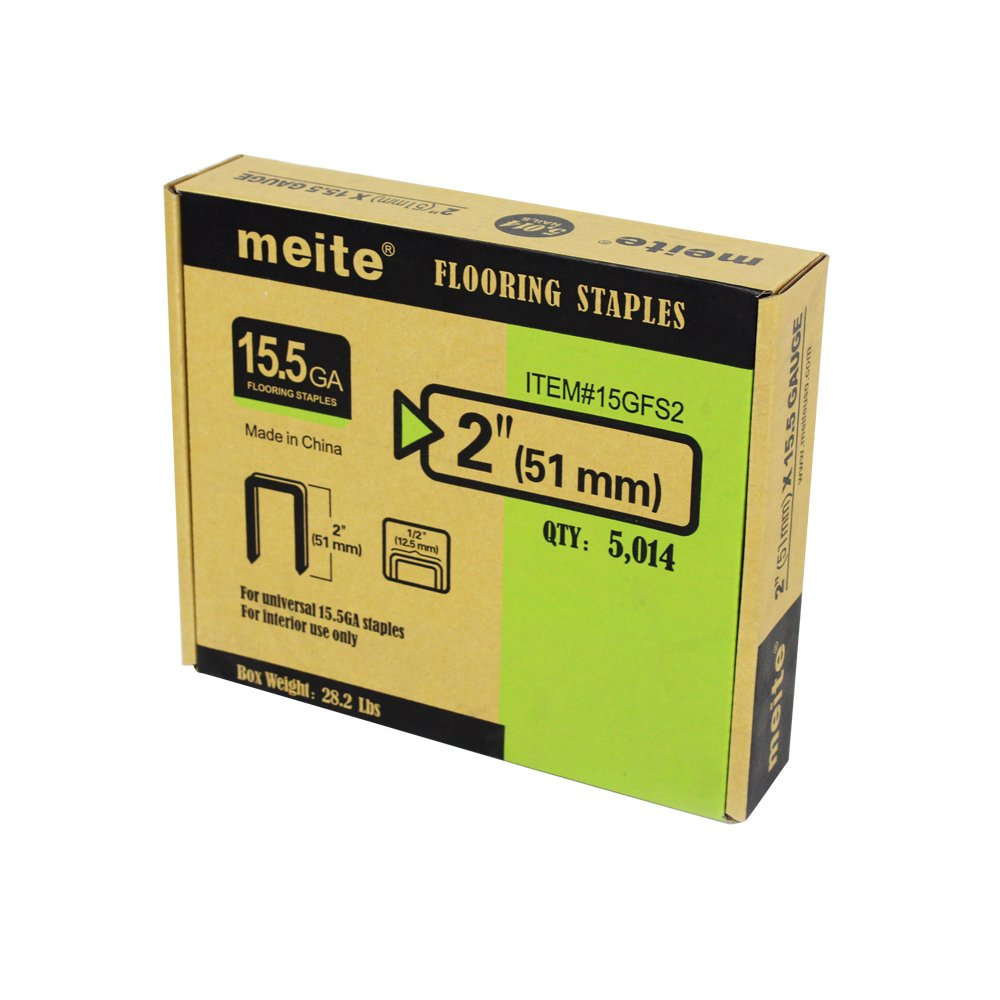 meite 15-1/2 Gauge 2-Inch by 1/2-Inch Crown Hardwood Flooring Staples 5014 PCS/BOX (1 Box Pack)