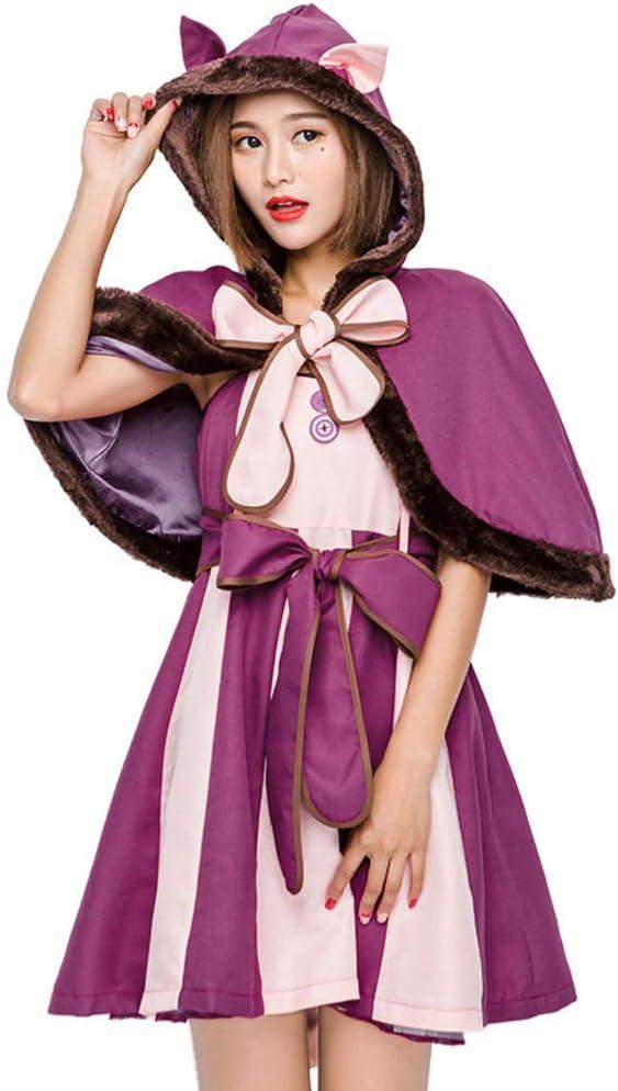 NiQiShangMao Disfraz de Alicia Cheshire Cat Cosplay Vestido para ...