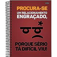 Caderno de 12 Matérias, Jandaia 51333, Multicor, Pacote com 4 Unidades