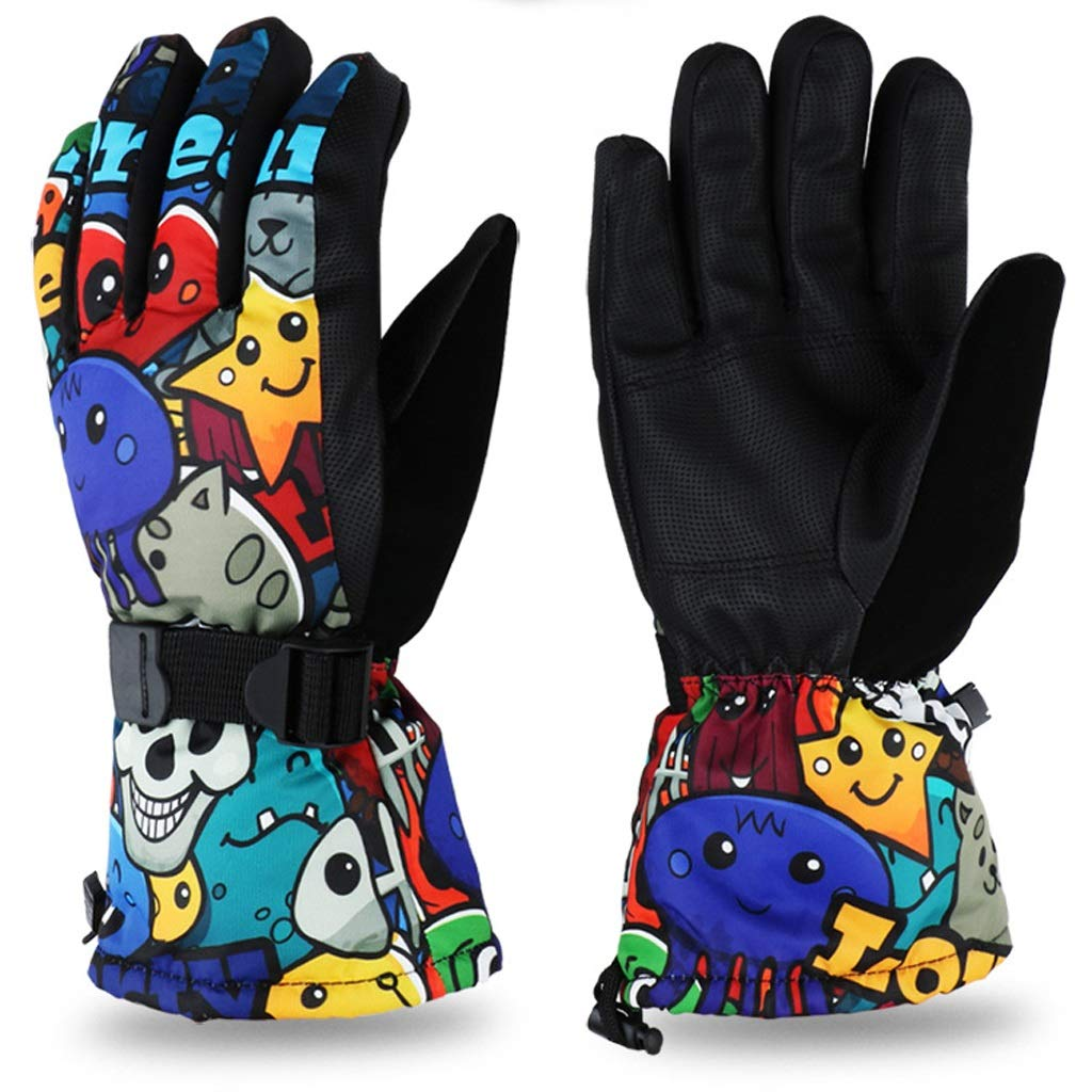 AsDlg Winter Ski Gloves, Upgraded Warmer Skiing Gloves, Waterproof & Windproof Thermal Gloves for Skiing, Snowboarding, Shredding, Snowballs (Color : C, Size : M)