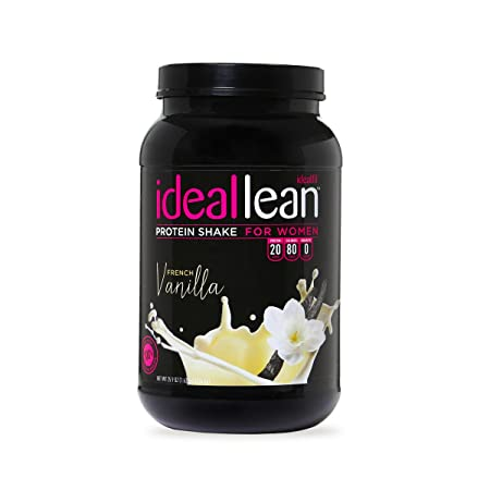 IdealLean – Nutritional Protein Powder For Women 20g Whey Protein Isolate Supports Weight Loss Healthy Low Carb Shakes with Folic Acid Vitamin D 30 Servings French Vanilla