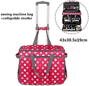 Bolsa de carro de máquina de coser, estuche de almacenamiento de costura portátil con carro de transporte plegable para la mayoría de las máquinas de coser estándar: Amazon.es: Bricolaje y herramientas