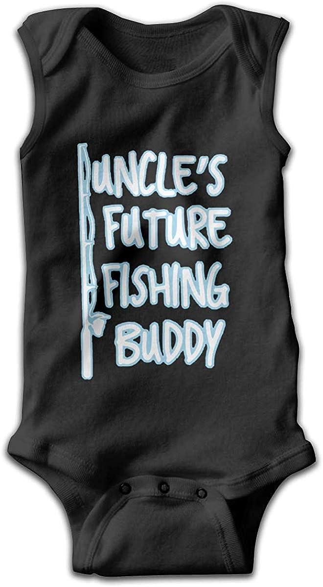 GongYe Uncles Future Fishing Buddy Baby Newborn Crawling Suit Sleeveless Onesie